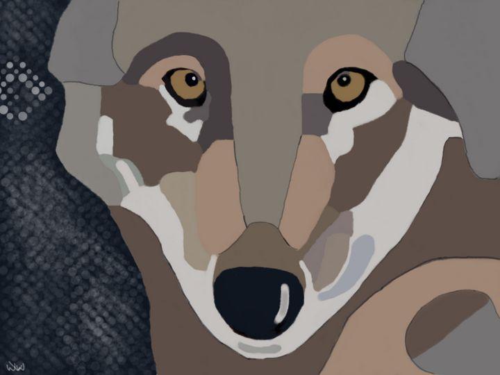 Wolf in the night - Digiiart