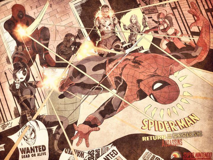 Revenge Of The Sinister 6 Assassins - Art of Eric Pabon