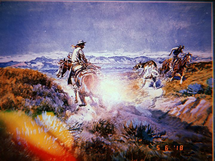 Cowboy Painting Photo - Huckleberry Hobby