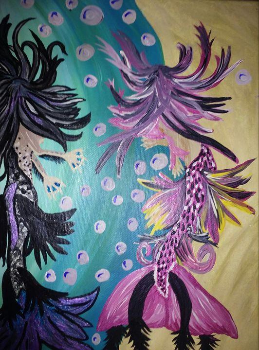 Dancing mermaids - 32tiawhite