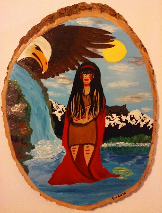 Alaska native water girl - 32tiawhite