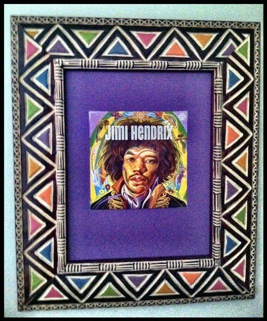 Jimi Hendrix Limited Edition Stamp - African Frames