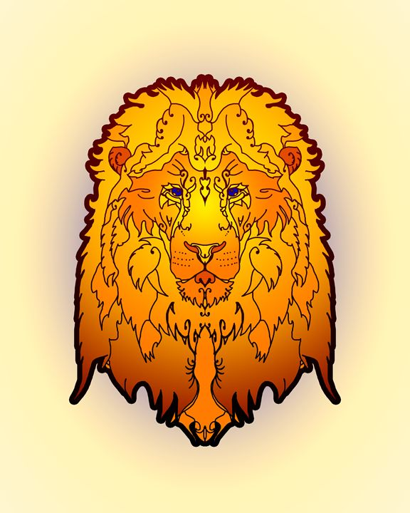 Lion - Gallery of symmetrical creatures