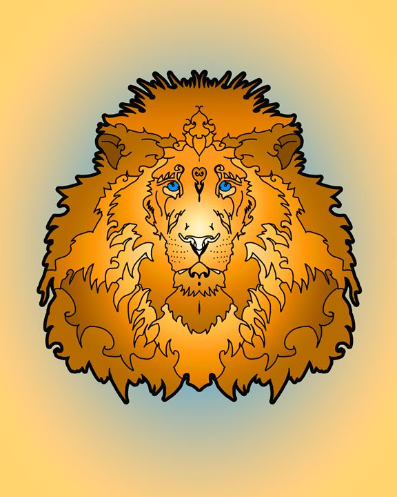 Lion II - Gallery of symmetrical creatures