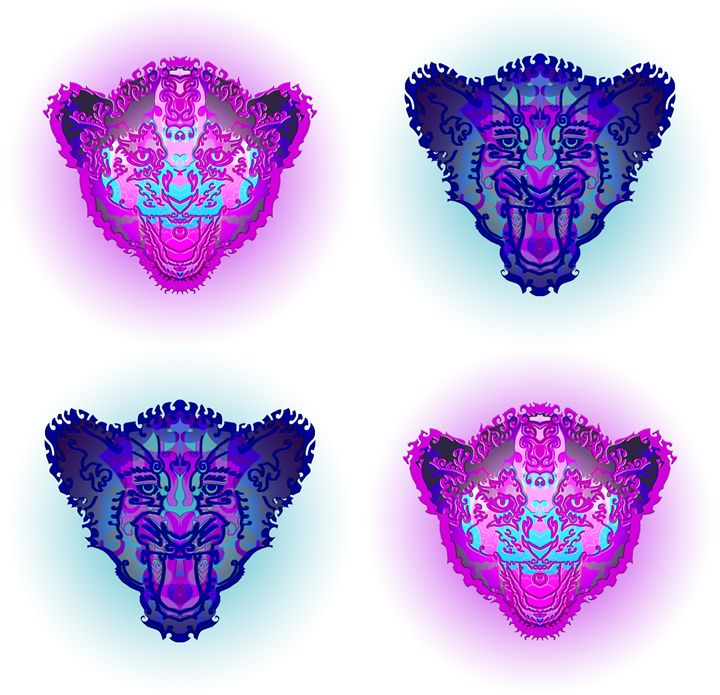 Small lions - Gallery of symmetrical creatures
