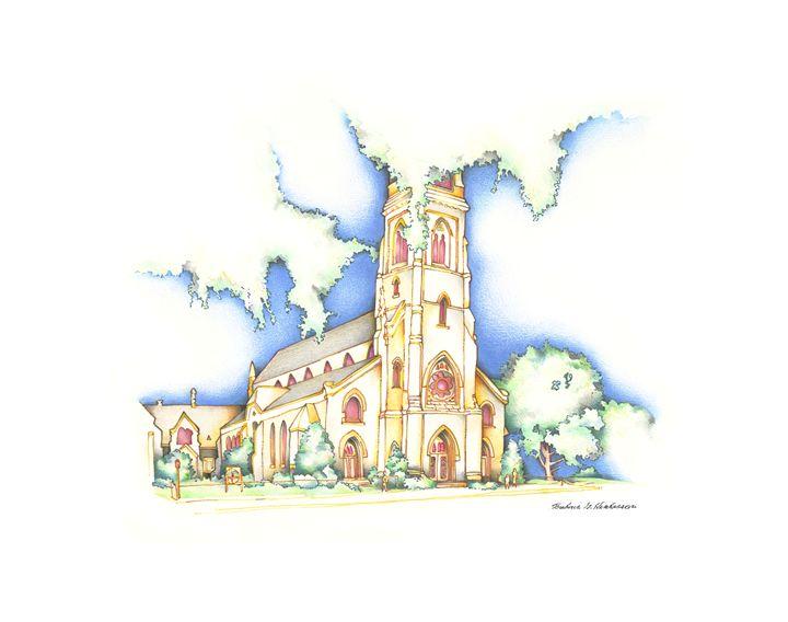Church at Sunset - RicArtt