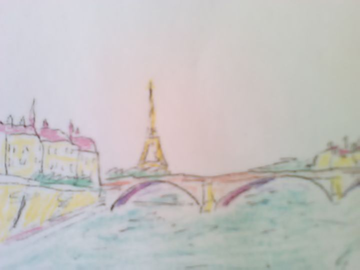 Eiffel Tower & River Seine - John Blandly Art