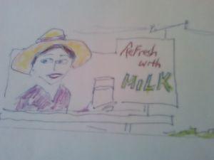 Milk Billboard - John Blandly Art