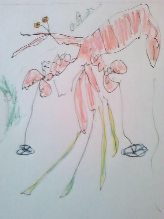 Lobster skier - John Blandly Art
