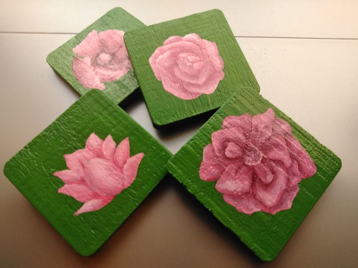 Floral Coaster Set - Erin's Creations