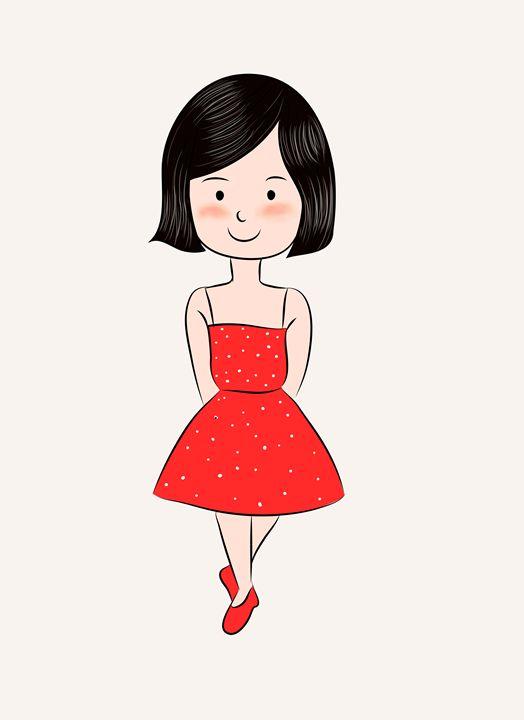 cute little girl - BanasDesign