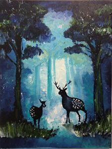 The Blue Forest at Night