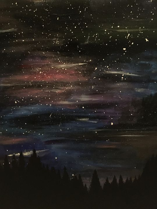 Starry Night Forest - Sunshine's Gallery
