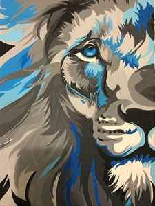 Lion painting