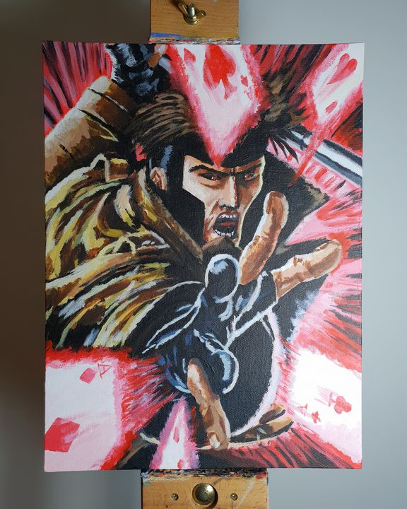 Gambit acrylic painting - Gavin.Nicholls.Art