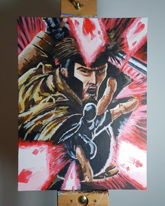 Gambit acrylic painting