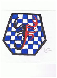 Scorpion on Checkerboard - Curtis Greer's Dynamic Arts
