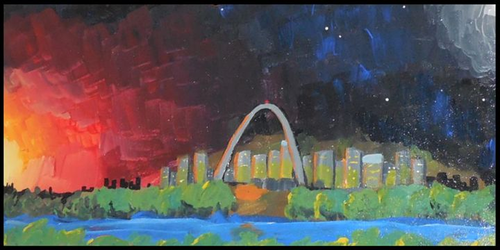 Night Falls over St. Louis - Earth Bound Star Driven