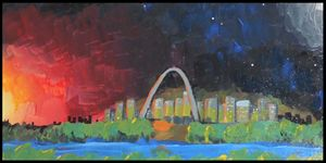 Night Falls over St. Louis