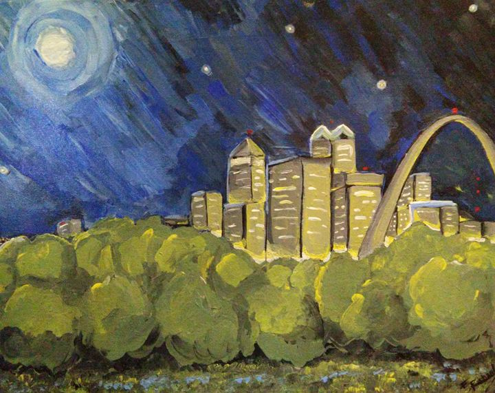 Starry Night over St. Louis - Earth Bound Star Driven