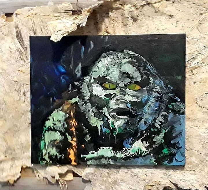 Creature Pour Painting Original - The Art of JP