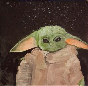 Baby Yoda Painting by JPDenyer