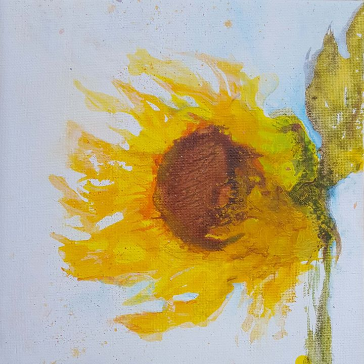 Sunflower Pour Painting - The Art of JP