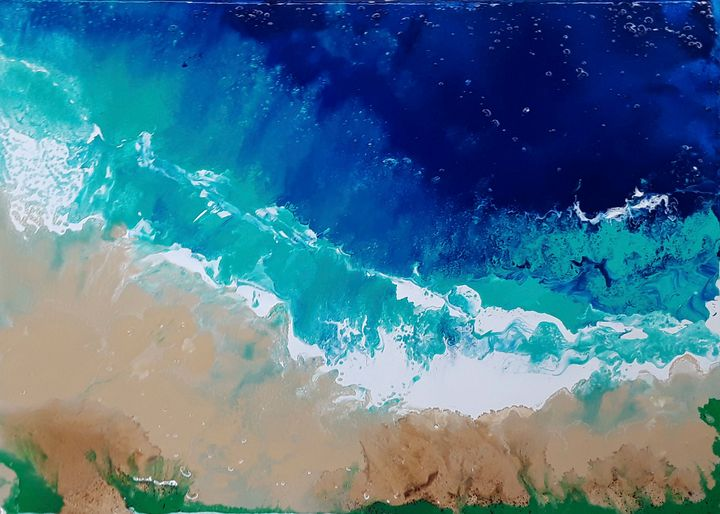 Google POV Ocean Pour Painting #1 - The Art of JP
