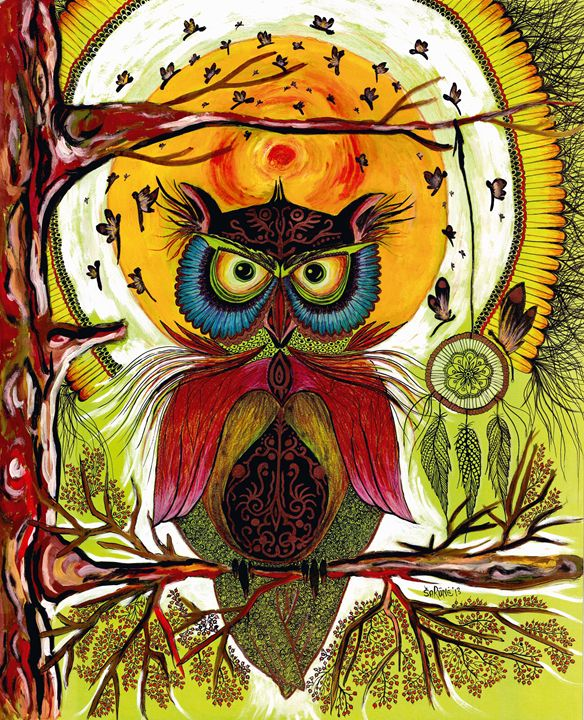 Boho Owl - Rūneša