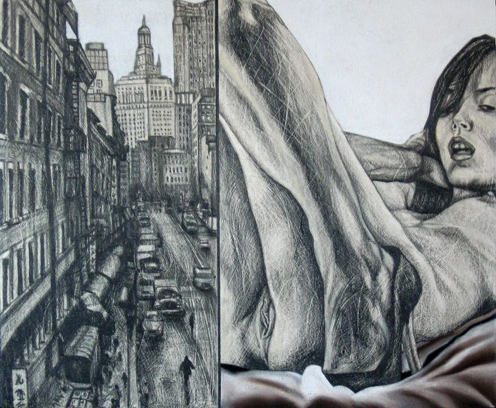 The thought solitary of Mable - Urban Portraits