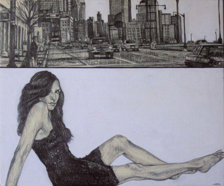 You simply waiting barefoot Leonor - Urban Portraits