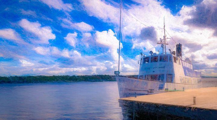 Steamship king Carl Gustaf - Hybinette