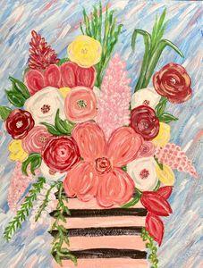 Bouquet in Stripes