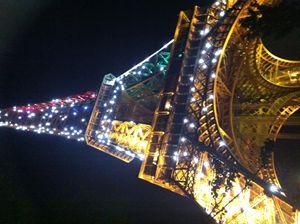 La Tour Eiffel illuminée à minuit