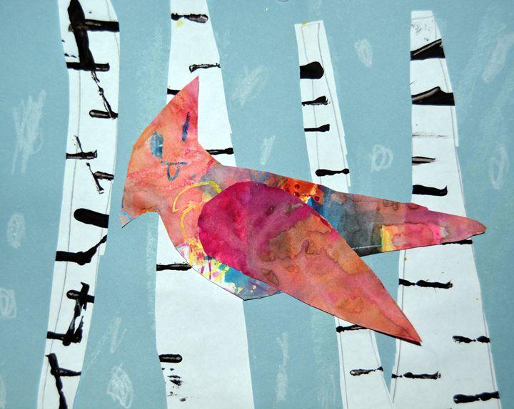 """""""Rainbow Bird"""" - C. Fay Fine Art"""