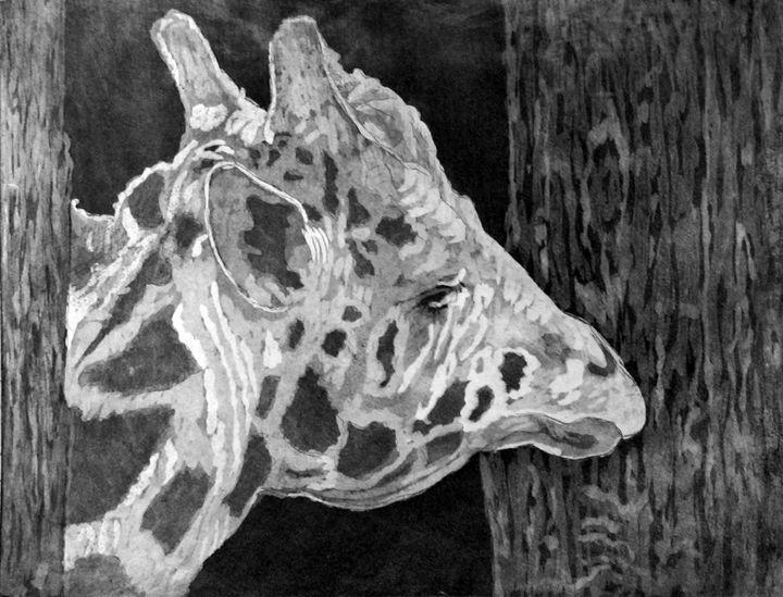 """""""Captive Giraffe"""" - C. Fay Fine Art"""