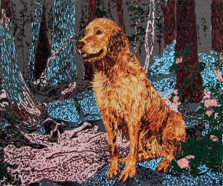 "Golden Retriever, ""Happy Daze"" - C. Fay Fine Art"