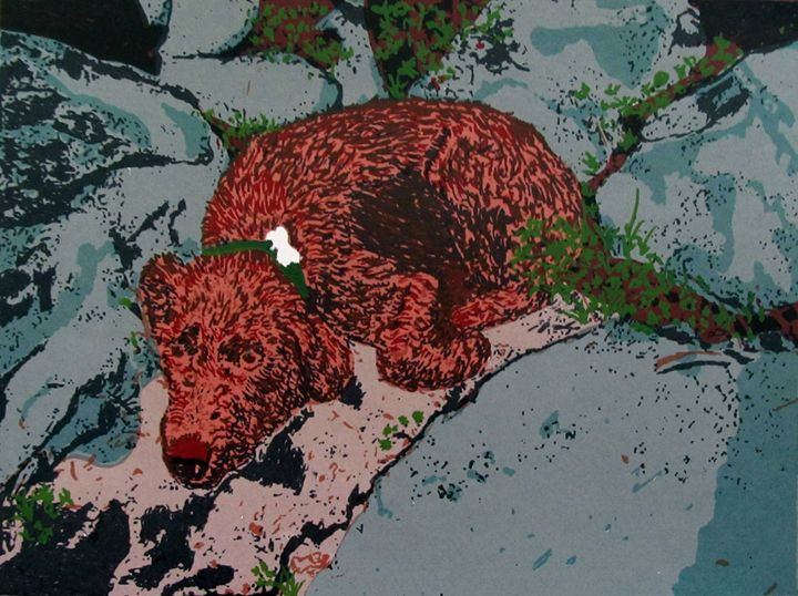 "Chocolate Lab ""Sleepy Daze"" - C. Fay Fine Art"