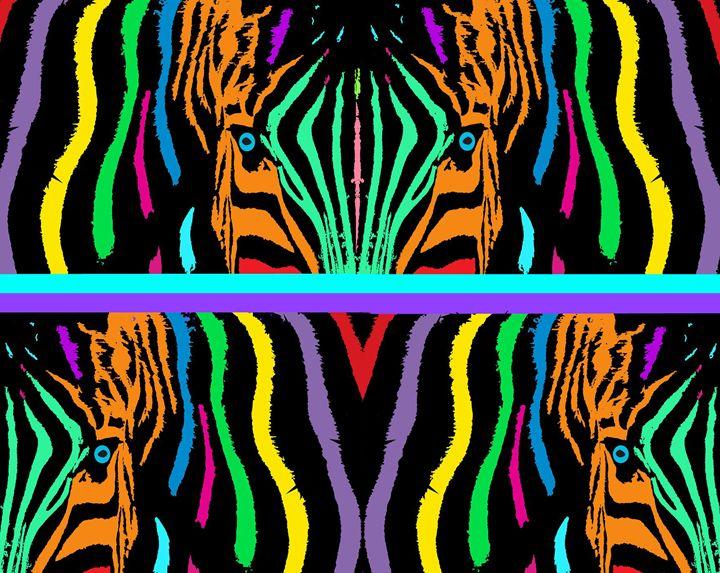 """""""Zebra Bright"""" - C. Fay Fine Art"""