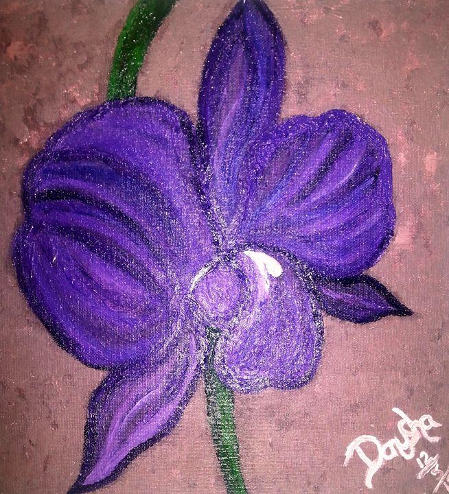 PURPLE ORCHID - ArtbyDanusha