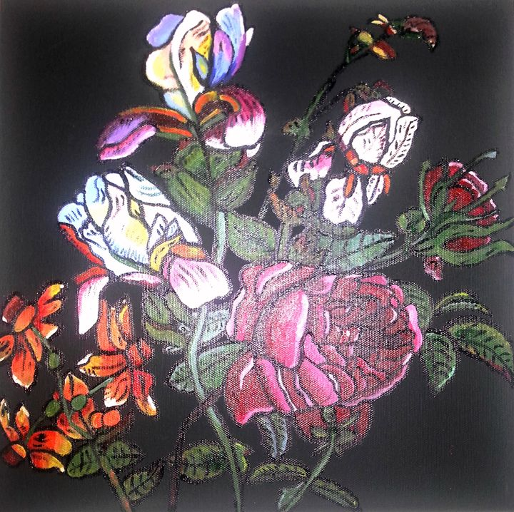 STAINED GLASS FLOWERS - ArtbyDanusha