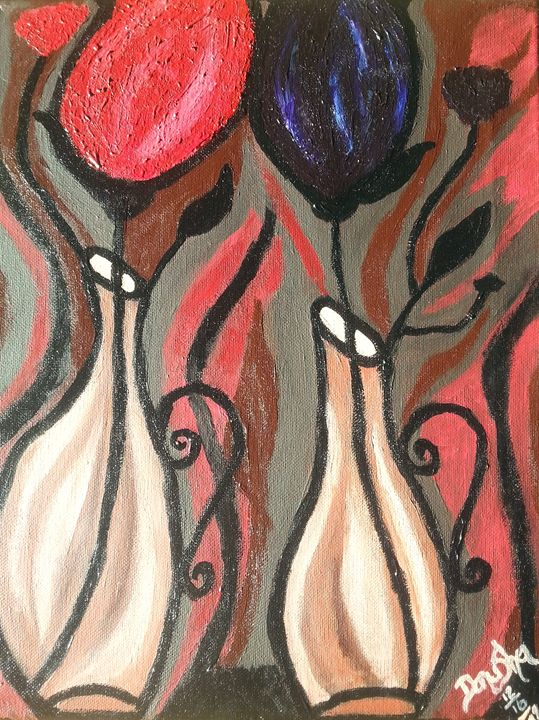 BOLD ABSTRACT TULIPS - ArtbyDanusha