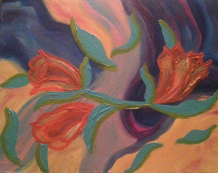 FLOWERS IN BREEZE - ArtbyDanusha