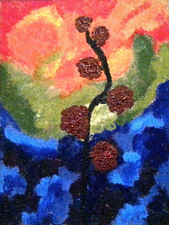 Burgundy Blossoms - ArtbyDanusha