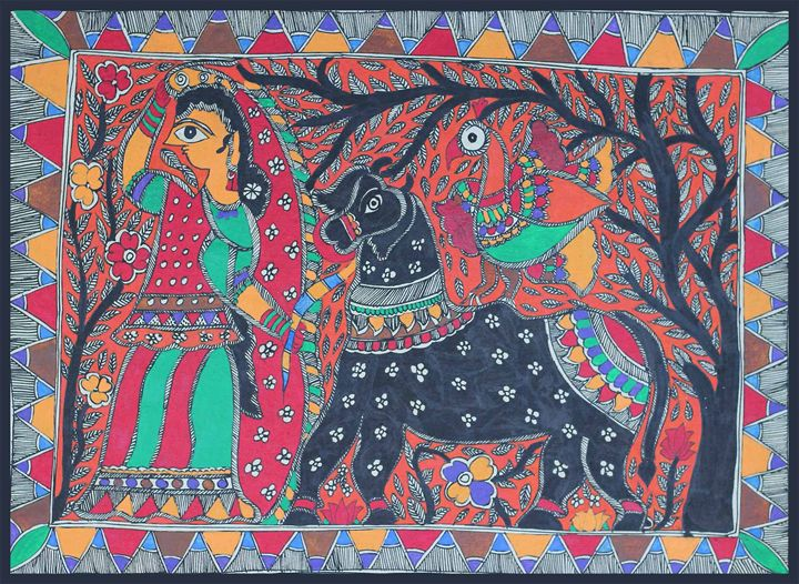 WALL PAINTING - MADHUBANI PAINTINGS