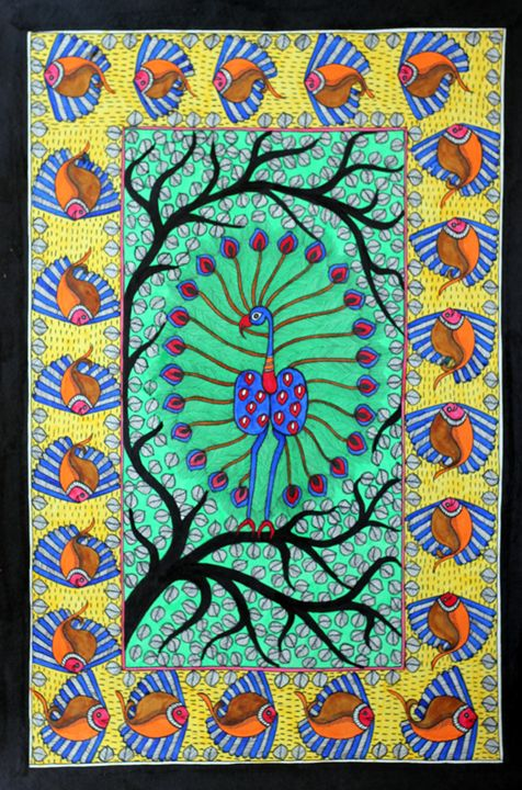 TREE N LIFE - MADHUBANI PAINTINGS