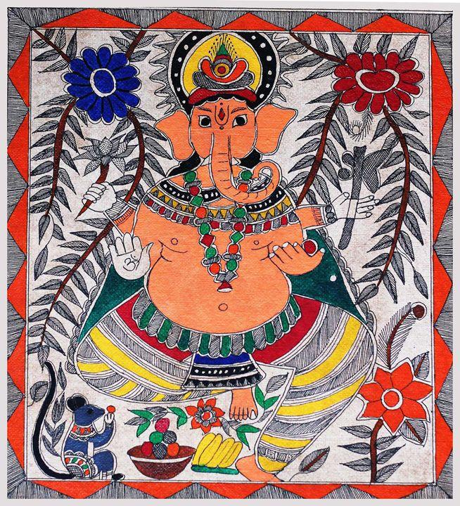 HINDU GOD - MADHUBANI PAINTINGS