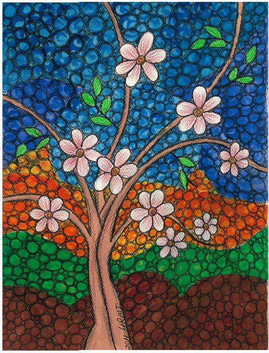 Tree in Bloom - Art by Urmi