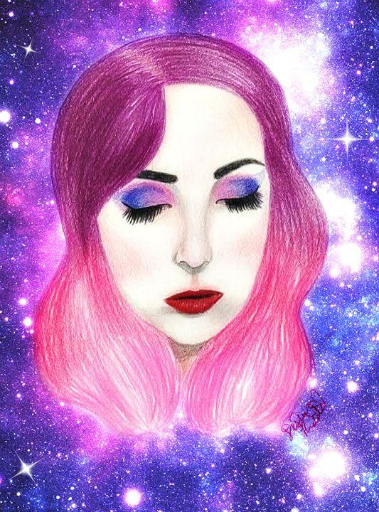 Galaxy Girl - Art by Destiny Riddle