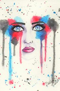 Watercolor Face 01
